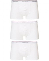 Dsquared2 3-Pack Cotton Stretch Trunk White men XL Hvid