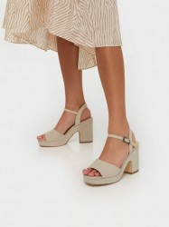 Duffy Chunky Heel Sandal High Heel Sand