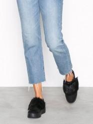 Duffy Faux fur sneaker Low Top Sort