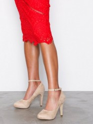 Duffy Party Heel Pumps Beige