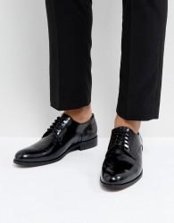 Dune Derby Shoes In Hi Shine Black Leather - Black