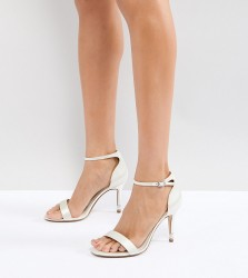 Dune London Bridal Wide Fit Two Part Heeled Shoe in Ivory - Cream