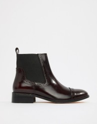 Dune Tyra Leather Chelsea Boots - Red