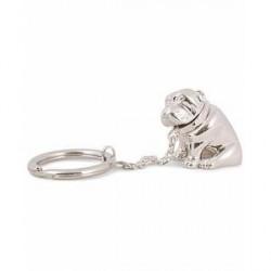 Dunhill Bulldog Keyring Silver