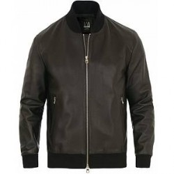 Dunhill Leather Blouson Jacket Black