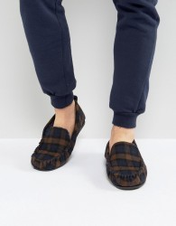 Dunlop Check Slippers - Blue