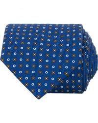 E. Marinella 3-Fold Micro Fantasy 8 cm Silk Tie Blue/Brown men One size Blå