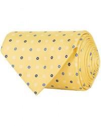 E. Marinella 3-Fold Printed Multi Dot Silk Tie 8 Cm Yellow men One size Gul