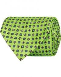 E. Marinella 7-Fold Foulard Printed Silk Tie Lime 8 cm men One size Grøn