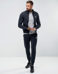 EA7 Cotton Zip Through Tracksuit Set In Navy - Navy