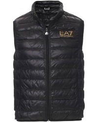 EA7 Train Core Light Down Vest Black/Gold men L Sort