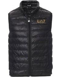 EA7 Train Core Light Down Vest Black/Gold men XL Sort