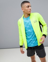 EA7 Training Performance Ventus 7 Zip Through Jacket In Neon - Black