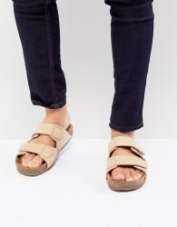 Eastland Caleb Double Strap Suede Sandals in Beige - Beige