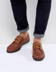 Eastland Falmouth Leather Boat Shoes in Tan - Brown