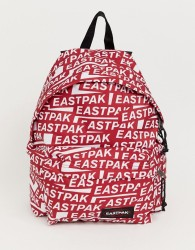 Eastpak Padded Pak'R 24l backpack with all over logo print - Red