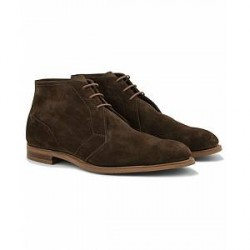 Edward Green Shanklin Unlined Chukka Boot Dark Brown Suede
