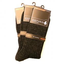 Egtved Sokker, JBS Undertøj 3 PAR Egtved luksussokker i Merino uld Grå uden elastik 56276 181