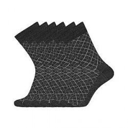 Egtved Sokker, JBS Undertøj 3 PAR Egtved luksussokker i Merino uld Sort med Mønster 56409 181