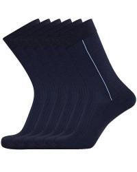 Egtved Sokker, JBS Undertøj Egtved 3 Par luksussokker i Blå Bomuld med Lys Blå Stribe 55450 290