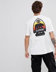 Element Arrow Back Print T-Shirt In White - White