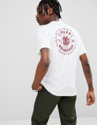 Element Blade Back Print T-Shirt In White - Grey