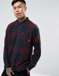Element Buffalo Flannel Shirt in Red Check - Red