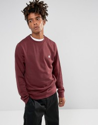 Element Cornell Logo Sweat In Burgundy - Red
