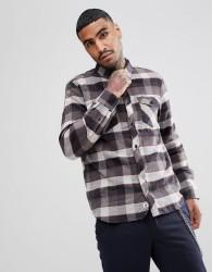 Element Flannel Shirt In Grey Plaid Check - Grey