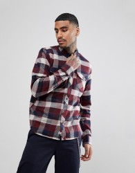 Element Flannel Shirt In Red Plaid Check - Red