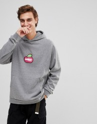 Element Hoodie With Centre Fruit Logo In Grey - Grey