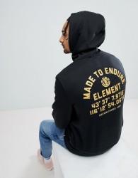 Element Hub Hoodie With Back Print - Black