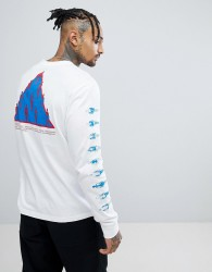 Element Infared Long Sleeve T-Shirt With Back Print - White