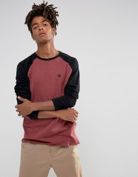 Element Raglan T-Shirt in Red & Black - Red