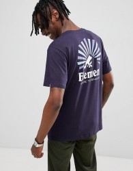 Element Rising Back Print T-Shirt In Navy - Navy