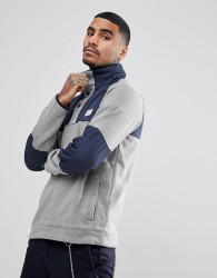 Element Sweat With Contrast Panels In Grey - Grey