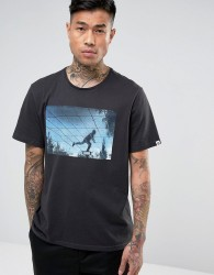 Element T-Shirt With Skate Mirage Print - Black