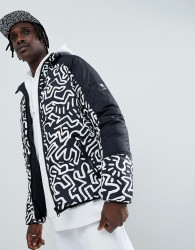 Element x Keith Haring reversible puffer jacket in black - Black