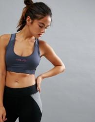Elle Sports Pink Pop Support Bra - Grey