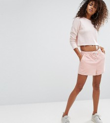 Ellesse Boyfriend Shorts With Lace Up Detail And Tonal Side Logo - Pink