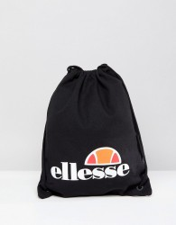Ellesse Drawstring Bag In Black - Black