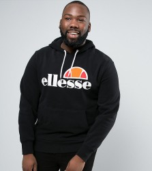Ellesse PLUS Hoodie With Classic Logo - Black