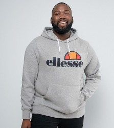 Ellesse PLUS Hoodie With Classic Logo - Grey