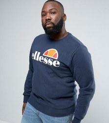 Ellesse PLUS Sweatshirt With Classic Logo - Navy