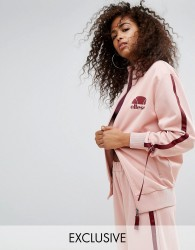 Ellesse Tracksuit Top With Side Pull Ties - Pink