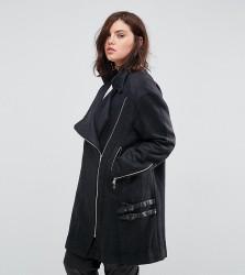 Elvi Buckle Coat - Grey