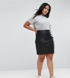 Elvi PU Skirt - Black