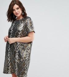 Elvi Sneak Sequin Dress - Gold