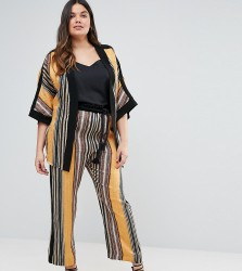 Elvi Striped Trousers - Multi