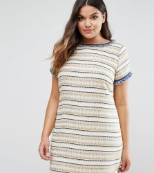 Elvi Texured Shift Dress - Yellow